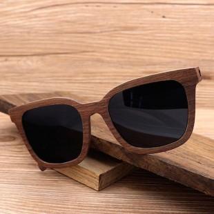 Retro lesena sončna očala